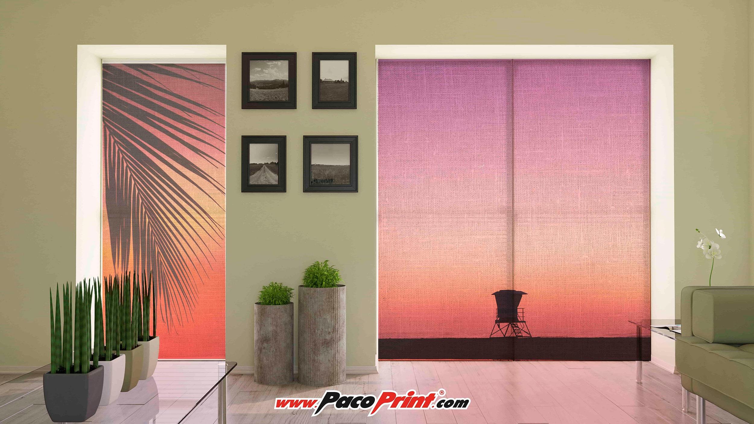Impresión digital de gran formato para decoración de interiores.